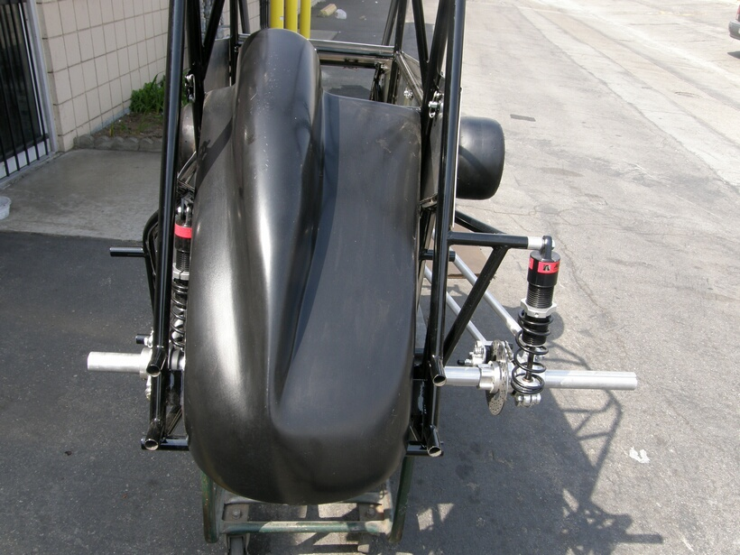 Quarter midget fiberglass tail tanks